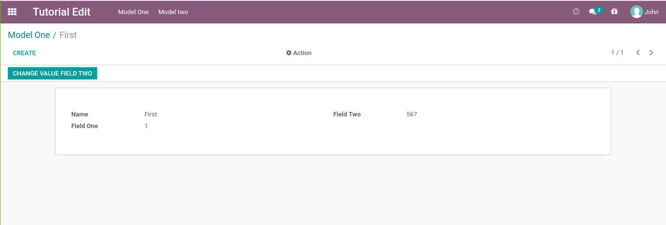 an odoo view withoud edit button